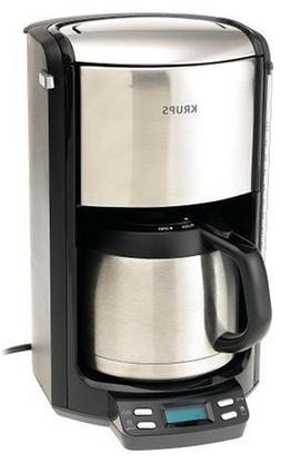 KRUPS FMF5 Programmable Coffee Maker with Double Wall Therma