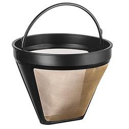 NRP Steel Gold Cone No.4 Permanent Coffee Filter 12cup Coffe