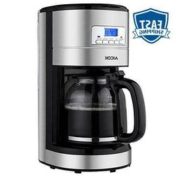Aicok Coffee Maker, 12-Cup Programmable Coffee Machine With