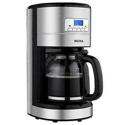 Aicok Coffee Maker, 12-Cup Programmable Machine with Glass T