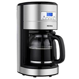 Aicok Coffee Maker , 12 Cups Programmable Coffee Maker with