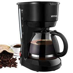 Coffee Maker, Aicok 5-Cup Black Instant Coffee Pot Maker Mac