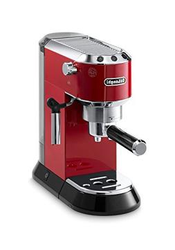 DeLonghi EC680R Red DEDICA 15-Bar Pump Espresso Machine