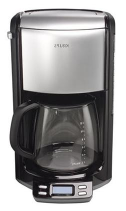 KRUPS FME414 Programmable Coffee Maker with Glass Carafe and