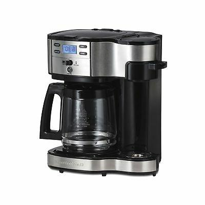 49980a coffee maker single serve black stainless