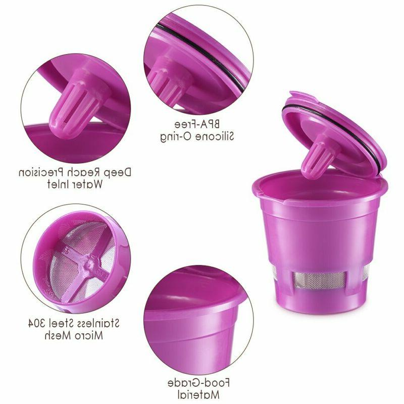 4x Reusable for Cup Maker Machine Stainless Steel