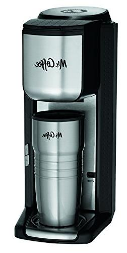 Mr. Coffee Single Cup Coffee Maker with Travel Mug and Built
