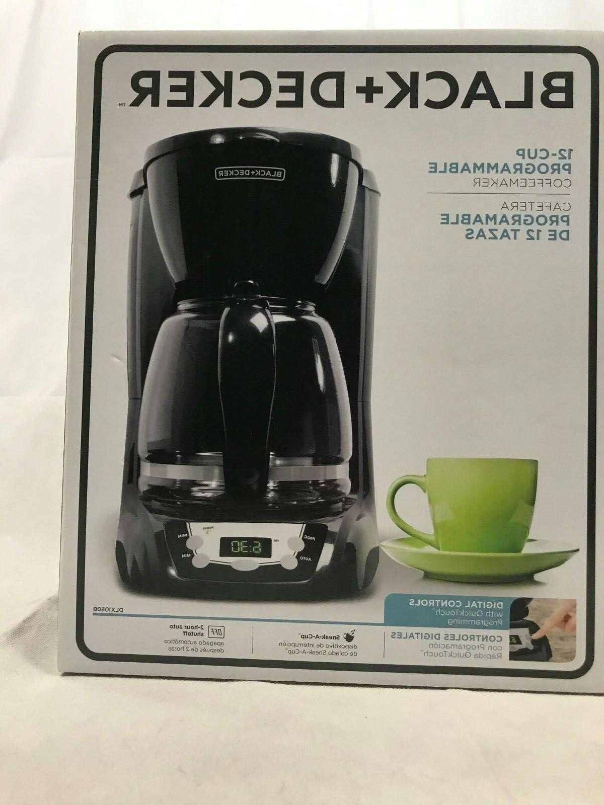 Black + Decker DLX1050B 12-Cup Programmable Coffeemaker with