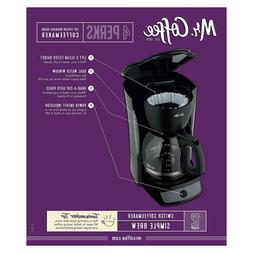 Mr. Coffee - 12 Cup Switch Coffeemaker - Black - CG13-RB