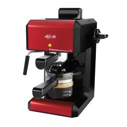 Mr. Coffee Café 20 Ounce Steam Automatic Red Espresso & Cap