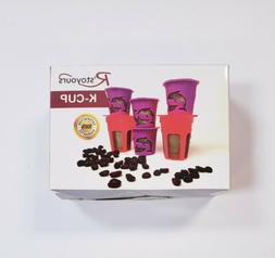 Pack of 6 K-Cup & K-Carafe Compatible Reusable Washable Coff