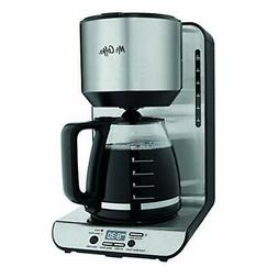 Mr. Coffee 12-Cup Programmable Coffeemaker, Stainless BVMC-F