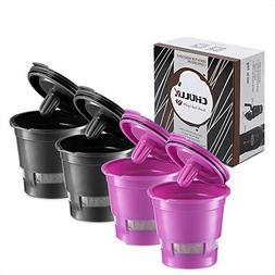 CHULUX 4-Pack Reusable Mesh Coffee Filter for Single Cup Cof