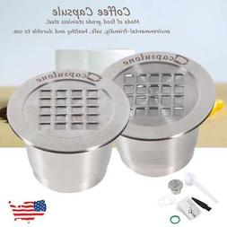 Stainless Steel Coffee Capsule Cup Reusable Refillable Pod F